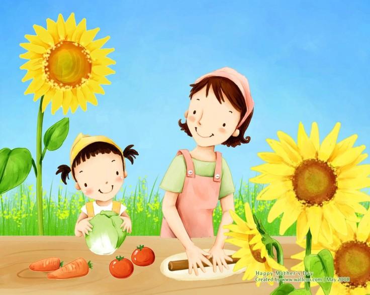 cartoon_mother_day_lovely_children_illustraion_60381_3