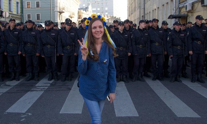 APTOPIX Russia Ukraine Protest