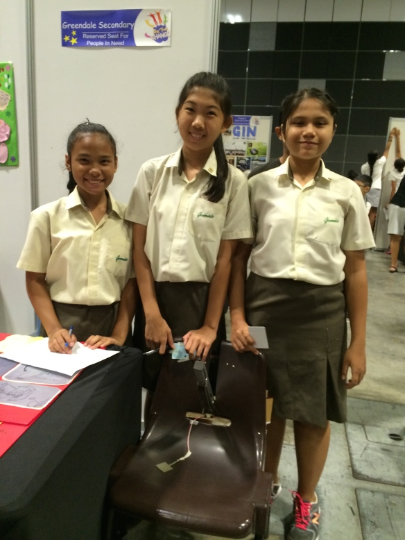 Students from Greendale Secondary School with their brilliant prototype