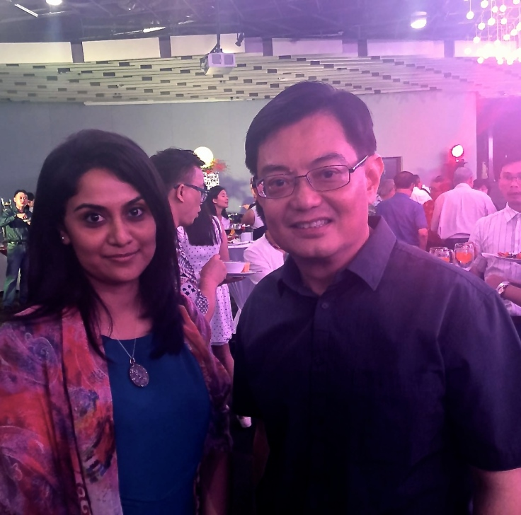 Yours truly with Finance Minister Heng. (Source: Prionka Ray©)