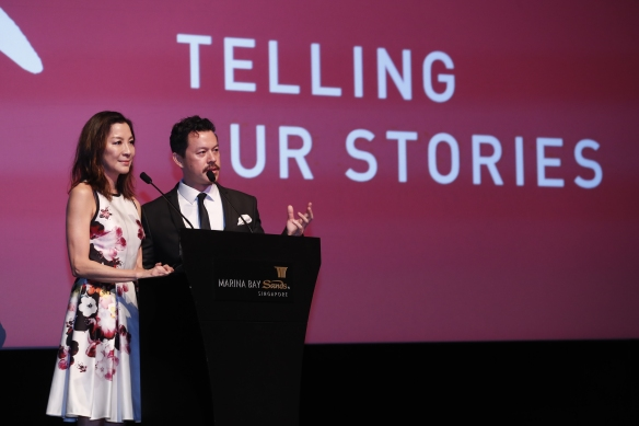 Michelle Yeoh and Mike Miluan (Credits: Bonnie Yap, 27th SGIFF)