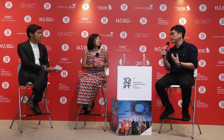 Yuni Hadi and Zhang Wenjie at the SGIFF Media Preview (Credits: 27th SGIFF)