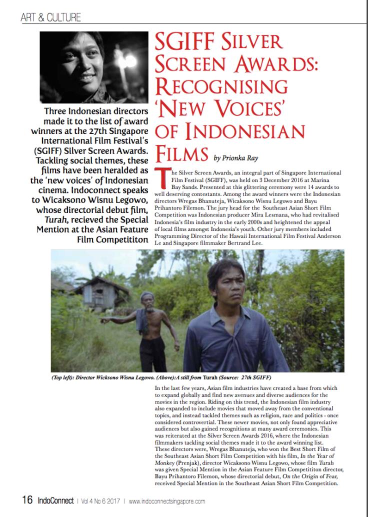Film maker, Wicaksono Wisnu Legowo (Source: Indoconnect)