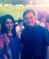 With Finance Minister, Heng Swee Keat. Event: SG 50