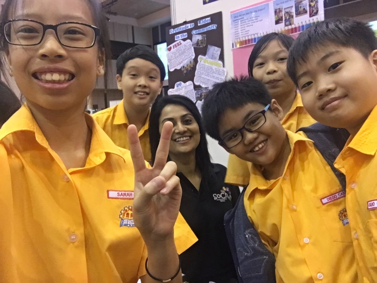 With Students (Singapore). Event: BTC 2017. Courtesy, SoCh