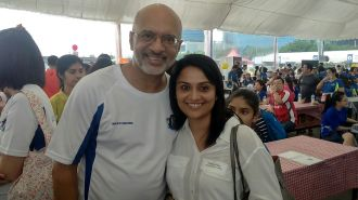 With Peeyush Gupta, CEO/ Director DBS Bank, Singapore (Event: POSB KidsWrite Book Launch, Courtesy: SoCh)