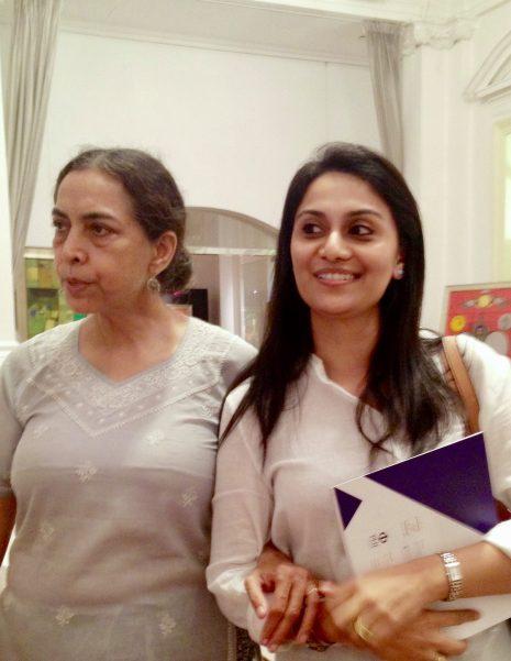 With painter, Arpana Caur